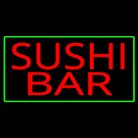 Sushi Bar With Green Border Neontábla