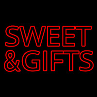 Sweets And Gifts Red Neontábla