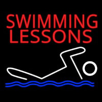 Swimming Lessons Neontábla