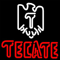 Tecate Eagle Logo Beer Sign Neontábla