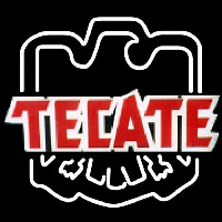 Tecate Eagle Print Logo Beer Sign Neontábla