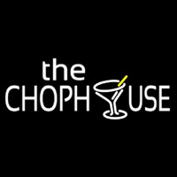The Chophouse With Glass Neontábla
