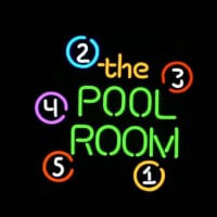 The Pool Room Bolt Nyitva Neontábla
