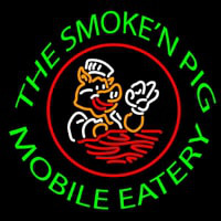 The Smoken Pig Mobile Eatery Neontábla