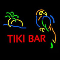 Tiki Bar With Parrot Neontábla