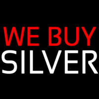 We Buy Silver Neontábla