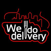 We Do Delivery Neontábla