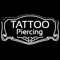 White Tattoo Piercing Neontábla