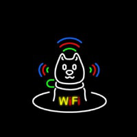 Wifi With Dog Logo Neontábla