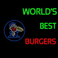 Worlds Best Burgers Neontábla