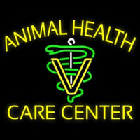 Yellow Animal Health Care Center Neontábla