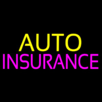 Yellow Auto Pink Insurance Neontábla