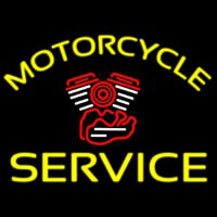 Yellow Motorcycle Service Neontábla