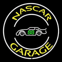 Yellow Nascar Garage Neontábla