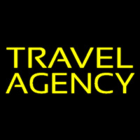 Yellow Travel Agency Neontábla