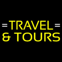 Yellow Travel And Tours Neontábla